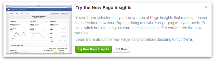 Screenshot - Try The New Page Insights