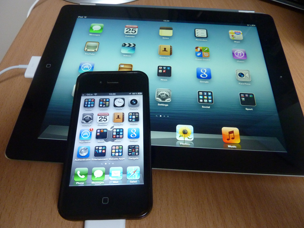 """""""iPad and iPhone"""" by Sean MacEntee (CC BY 2.0)"""