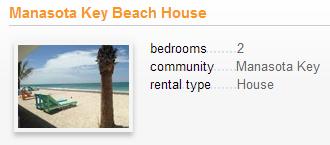 Manasota vacation rental. Used with permission.