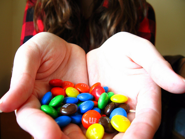 "a handful of M&Ms | ""83/365"" by Amy Loves Yah on flickr. (CC BY 2.0)"
